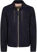 Schott Nyc Midnight Blue Suede Jacket