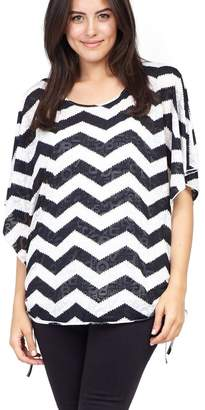 M&Co Izabel Curve zig zag oversized top
