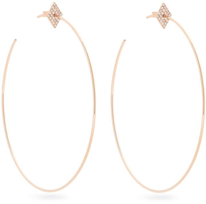 Diane Kordas Diamond & rose-gold Geometric earrings