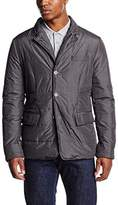 Daniel Hechter Men's Quilted Long Sleeve Jacket - Multicoloured - Medium