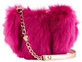 Betsey Johnson Faux-Fur Heart Crossbody Bag