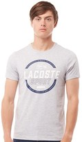 Lacoste Mens Sport Tennis Technical Jersey T-Shirt Silver Chine/White-Navy Blue