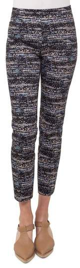 Akris Punto Franca Twilight City Print Ankle Pants