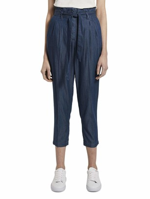 Tom Tailor Women's Denim Paperbag Trouser 10110-Blue 36