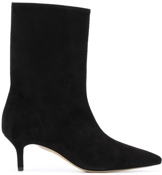 Semi-Couture Pointed Toe Mid-Heel Boots