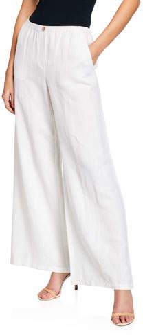 Nic+Zoe Refreshed Wide-Leg Linen Pants