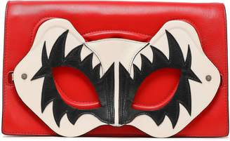 Elena Ghisellini Appliqued Leather Clutch