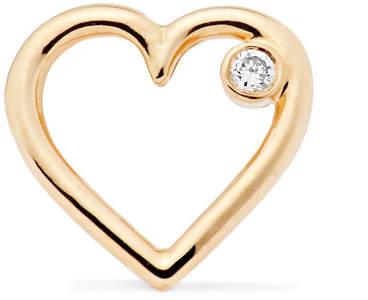 Aurelie Bidermann Merveilles Gold Diamond Earring - one size