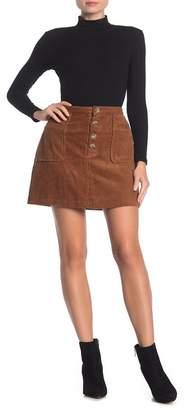Blu Pepper Corduroy Patch Pocket Mini Skirt