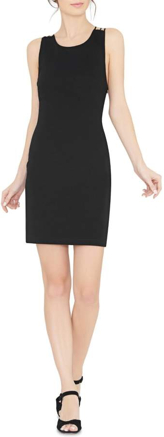 Alice + Olivia Kell Crossback Fitted Dress