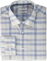 Calvin Klein Men's Non Iron Regular Fit Exploded Plaid Dress Shirt