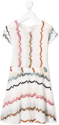 Missoni Kids Abstract-Print Midi Dress