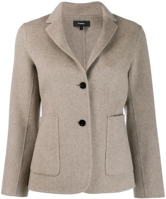 Theory Single-Breasted Fitted Blazer