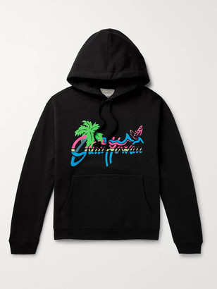 Gucci Oversized Logo-Print Loopback Cotton-Jersey Hoodie
