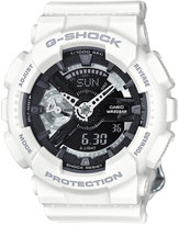 G-Shock Women's Analog-Digital S Series White Bracelet Watch 49x46mm GMAS110CW7A1