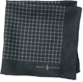 Polo Ralph Lauren Checked Linen Pocket Square
