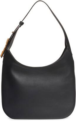 Versace Borso Leather Hobo Bag