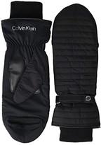 Calvin Klein Linear Quilted Mitten (Black) Over-Mits Gloves