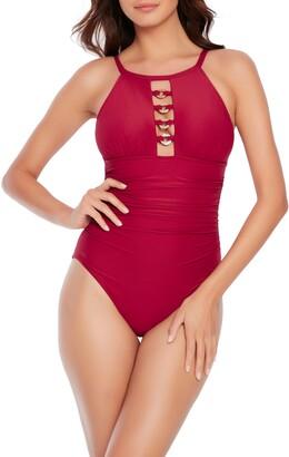 Magicsuit Poppy Halter Cutout One-Piece Swimsuit
