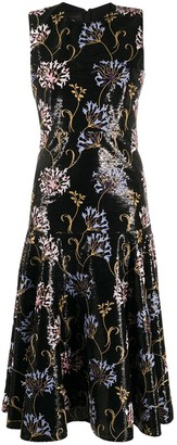 Giambattista Valli Floral-Embroidered Sequin Dress