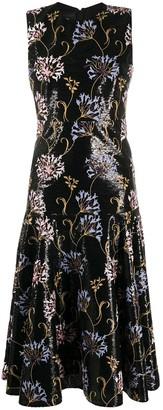 Giambattista Valli floral-embroidered sequin dress
