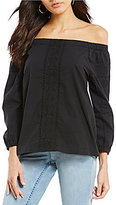 Tommy Bahama Cotton Poplin Off-The-Shoulder 3/4 Sleeve Top