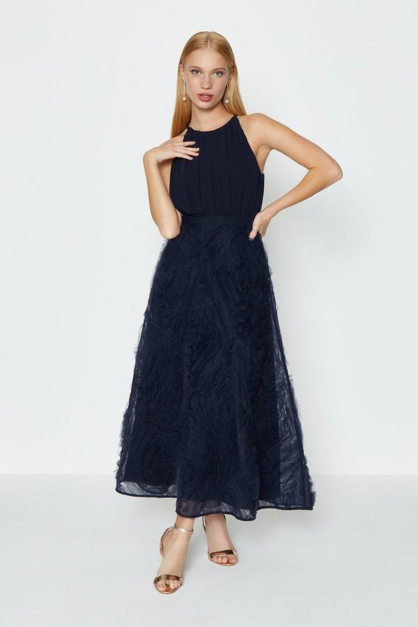 Coast 3D Textured Full Midi Dress