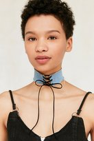 Urban Outfitters Denim Lace-Up Choker Necklace