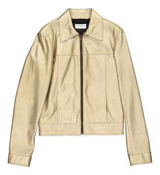 Saint Laurent Gold Leather Jackets