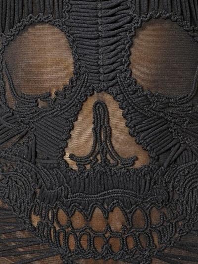 Philipp Plein Skull Cotton Net Dress