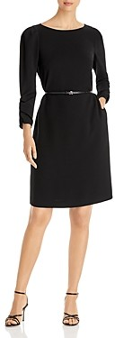 Lafayette 148 New York Romilly Finesse Crepe Belted Dress