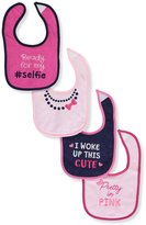 "Luvable Friends Ready for my #Selfie"" 4-Pack Baby Bibs"