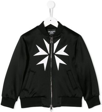 Neil Barrett Kids Star Print Bomber Jacket