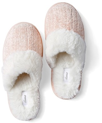 Soma Intimates Chenille Slippers Pink
