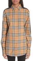 Burberry Saoirse Vintage Check Cotton Top