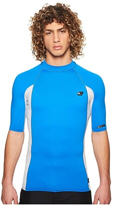 O'Neill Premium Short Sleeve Rashguard (Ocean/Cool Grey/Ocean) Men's Swimwear