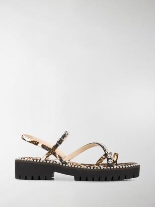 Jimmy Choo Desi snake-print sandals