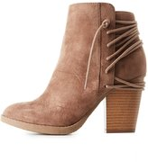 Charlotte Russe Lace-Up Back Ankle Booties