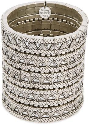 Philippe Audibert 'Clemence' Swarovski crystal five row bracelet