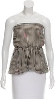 Etoile Isabel Marant Striped Strapless Top
