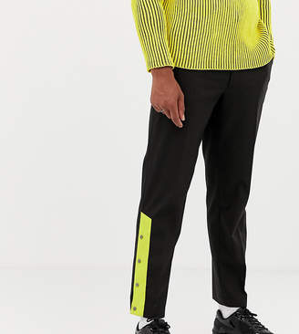 Collusion COLLUSION smart straight leg trousers with poppers