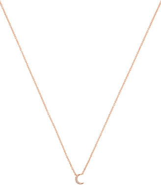 Ef Collection Diamond Moon Choker Necklace