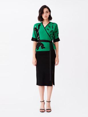Diane von Furstenberg Sophia Knit Wrap Top