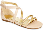 Ivanka Trump Girls' or Little Girls' Gold Ticket Sandals