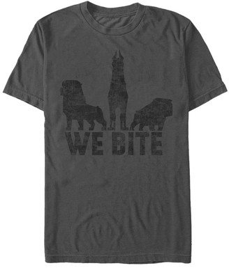 Fifth Sun Men's Tee Shirts CHARCOAL - Charcoal Up Dogs 'We Bite' Tee - Men