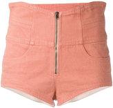 Isabel Marant high waisted shorts - women - Cotton - 36