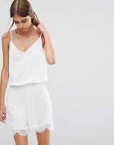 Vero Moda Romper with Lace Trim in White