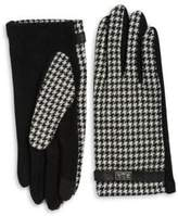 Lauren Ralph Lauren Wool and Cashmere-Blend Houndstooth Touch Gloves
