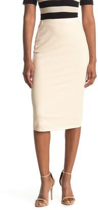 AFRM Port Ribbed Pencil Skirt