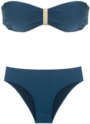 Lygia & Nanny Ester Trilobal bandeau bikini set